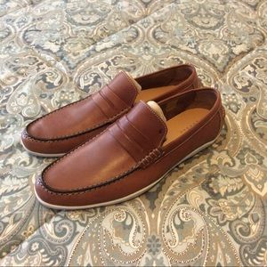 NWOB Harris of London Basel Chestnut Loafer 44-11